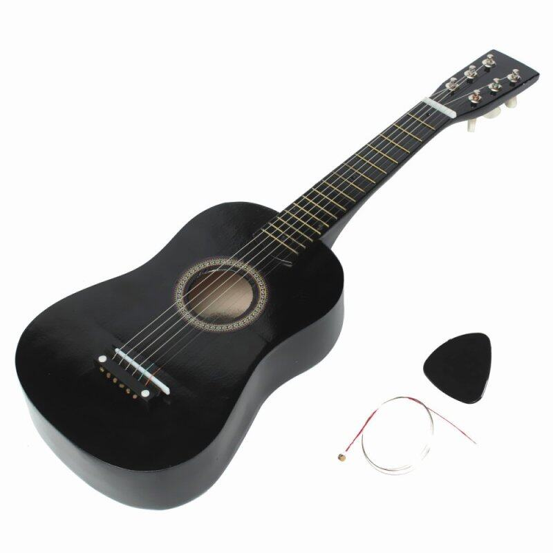 HOT New Beginners Black Basswood Acoustic Guitar With Guitar Pick Wire Strings Malaysia