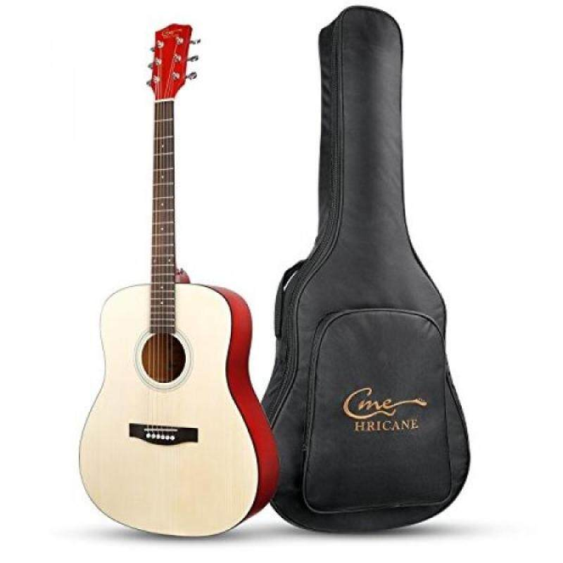 Hricane Beginner Acoustic Guitar 41 Full Size Guitar, GU-1 Dreadnought Spruce Steel String Acoustic Guitar with Gig Bag (Dreadnought) Malaysia