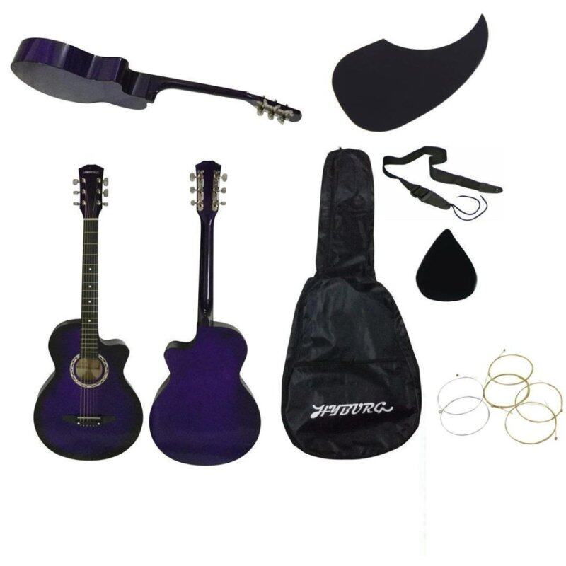 HYBURG Acoustic Guitar 38 Inch(Purple)+Bag+Pick+Pickguard+Strap+Strings Malaysia