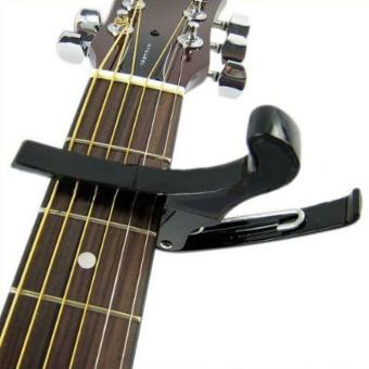 Harga leegoal Premium Quick Change Folk Acoustic Electric Guitar Banjo Capo Key Clamp,Black