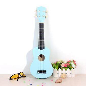 Harga 21 Inch Acoustic Soprano Hawaii Ukulele Musical Instrument Sky Blue