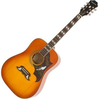 Harga Epiphone Dove Pro Acoustic-Electric Guitar (Violinburst)