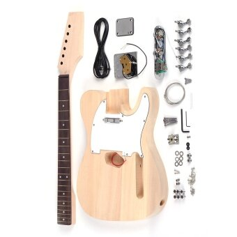 Harga Tele Style Unfinished DIY Electric Guitar Kit Basswood Body Maple Neck Rosewood Fingerboard Outdoorfree
