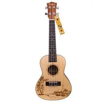 Harga Kmise professional performance concert ukulele Hawaii guitar 23""