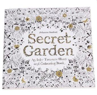Harga Set of 5 Secret Garden An Inky Treasure Hunt and Coloring Book (English) 24 Pages