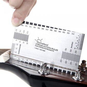 Harga String Action Ruler Gauge Tool in/mm for Guitar Bass Mandolin Banjo Guitar Accessory