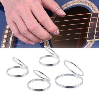 Harga Guitar Banjo Ukulele Metal Picks Plectrum 3pcs Finger Picks + 1pcs Thumb Pick Outdoorfree