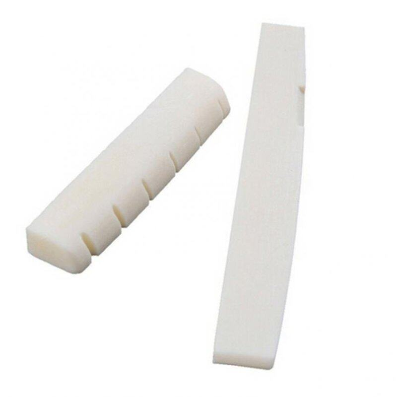 Jetting Buy 2 Set Ivory Buffalo Bone Bridge Saddle&Slotted Nut For 6 String Acoustic Guitar White Malaysia