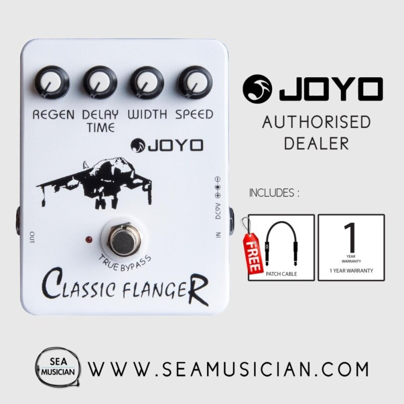 JOYO JF-07 CLASSIC FLANGER ELECTRIC GUITAR EFFECT PEDAL WITH 2 FREE CABLE Malaysia