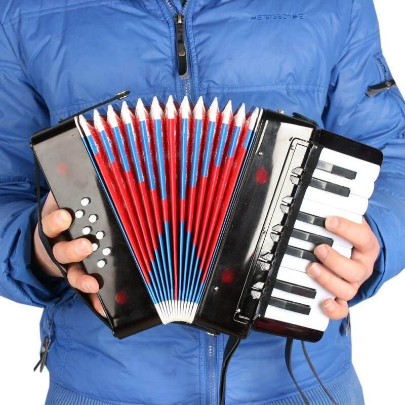 Kids Children 17-Key 8 Bass Mini Small Accordion Educational Musical Instrument Rhythm Band Toy Black Outdoorfree Malaysia