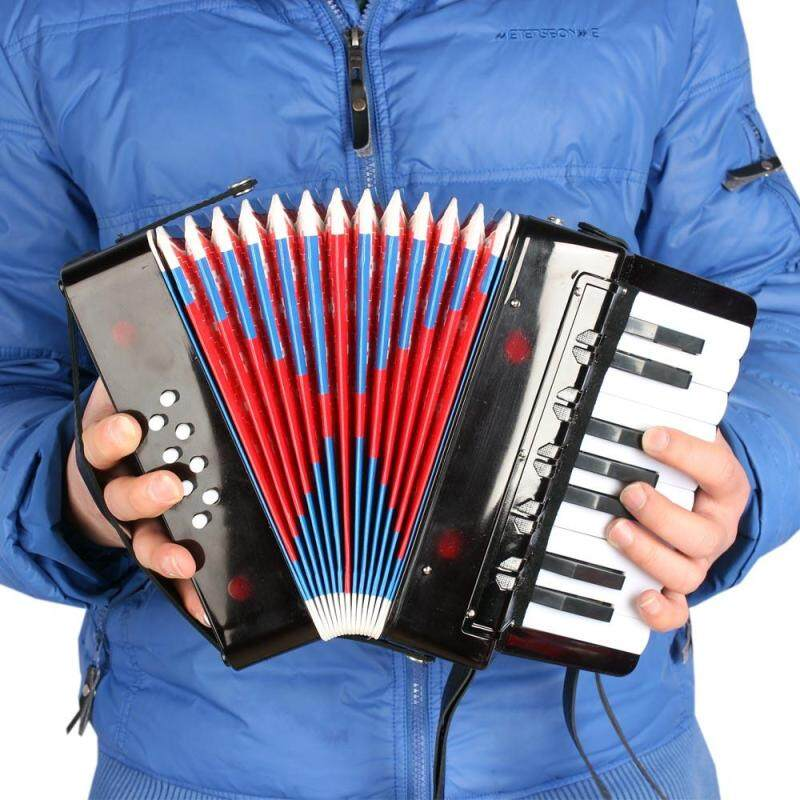 Trẻ em 17-Chìa Khóa 8 Bass Bộ Nhỏ Accordion Giáo Dục Dụng Cụ Âm Nhạc Nhịp Điệu Nhạc Đồ Chơi Màu Đen-quốc tế