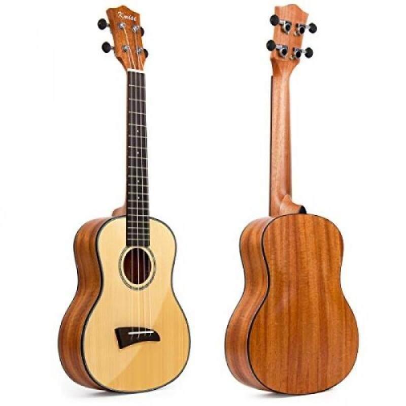 Kmise Solid Spruce Tenor Ukulele 26 inch Hawaii Guitar Mahogany Back Bone Saddle With Aquila Strings Malaysia