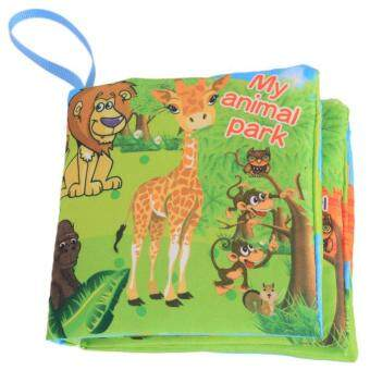 Harga LALANG Baby Educational Early Learning Cloth Book Animal ParkPicture Cognition