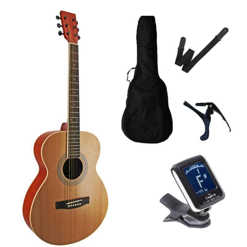 Miracle Acoustic Guitar 39 Inch Folk Guitar FOC non-padded guitar bag+ clip tuner + guitar strap + guitar capo Malaysia