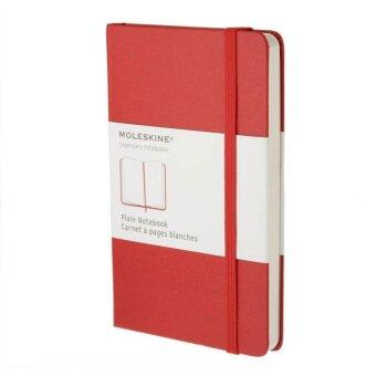 Moleskine Plain Red Notebook - Large - Hard Cover