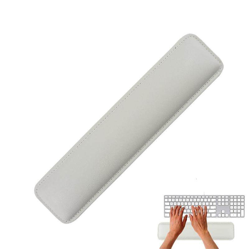 moob White Luxury PC Laptop PU Leather Wrist Rest With Meomery Foam For Standard Keyboards Malaysia