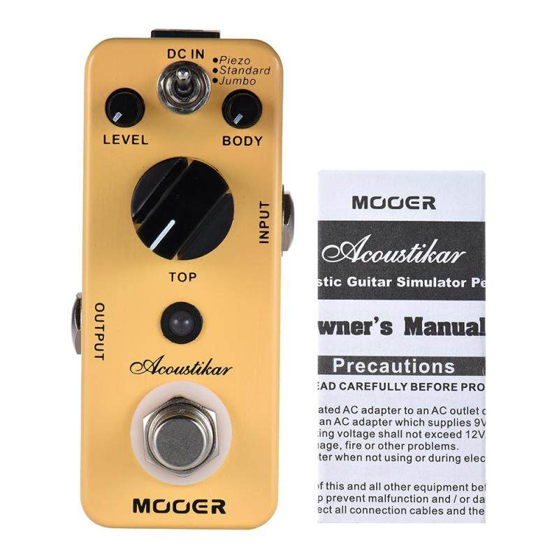MOOER Acoustikar Acoustic Guitar Simulator Effect Pedal True Bypass with 3 Modes (Piezo/Standard/Jumbo) Malaysia