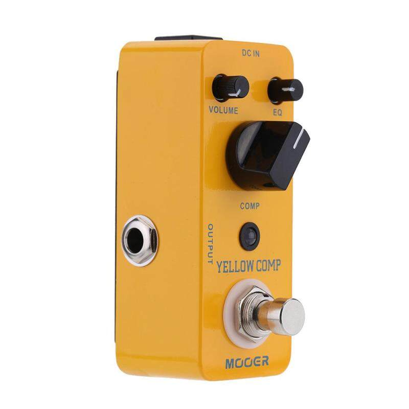 Mooer Yellow Comp Micro Mini Optical Compressor Effect Pedal for Electric Guitar True Bypass Yellow Malaysia