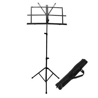Harga Music Stand Tripod Adjustable Foldable for Violin, Keyboard,Guitar, Ukulele & Food Menu with Carry Bag (black)