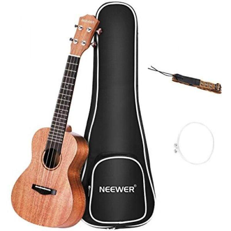 Neewer Concert Size 23 inches Mahogany Ukulele with Gig bag, Strap and Carbon Nylon String, 4 Strings White Binding Ukulele with 18 Brass Frets Rosewood Fingerboard and Bridge for Beginners to Solo Malaysia