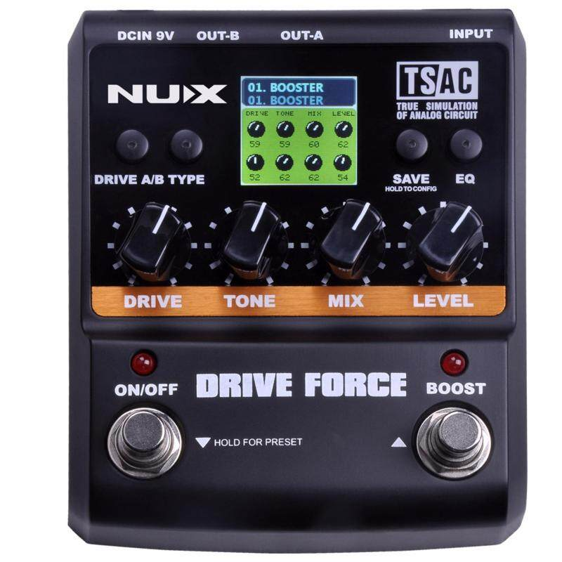 NUX DRIVE FORCE Overdrive Guitar Effect Pedal 10 models including booster, tube overdrive, distortion TS/AC Noise Gate Malaysia