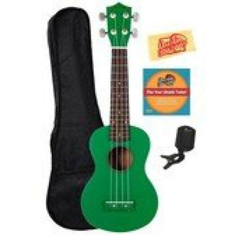 Okina UK100 Soprano Ukulele with Rosewood Fingerboard - Green Malaysia