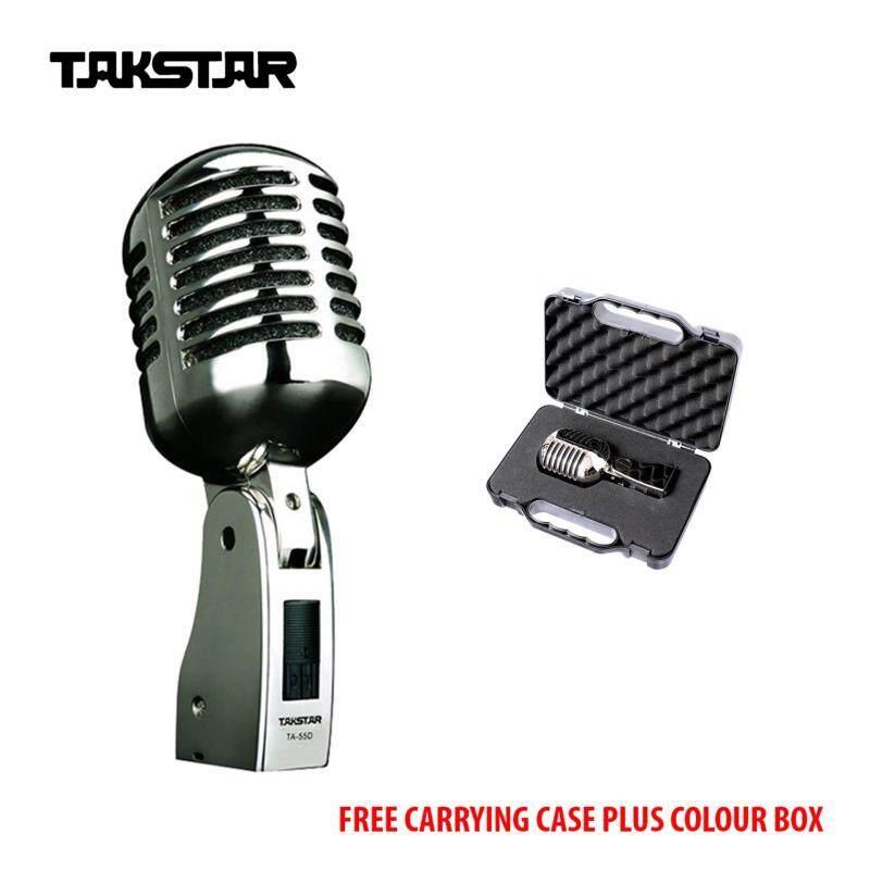[ORIGINAL] TAKSTAR TA-55D Professional Dynamic Microphone + Free Carrying Case Plus Colour Box Malaysia