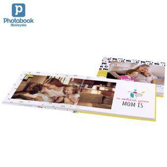 "Photobook Malaysia 11"" x 8.5\"" Medium Landscape Imagewrap Lay Flat Photo Book, 22+2 Pages"