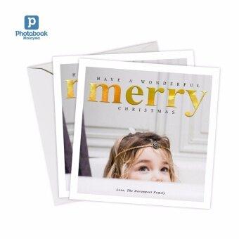 "Photobook Malaysia 5\"" x 5\"" Flat Greeting Card - 20 Identical Pieces"