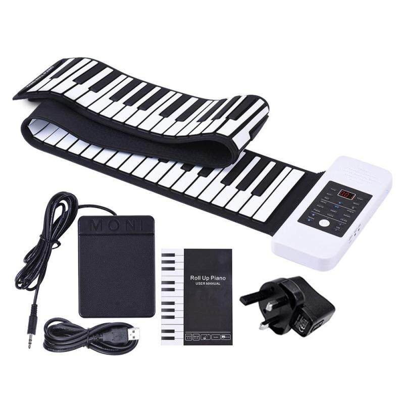 Portable Silicon 88 Keys Hand Roll Up Piano Electronic USB Keyboard and Loud Speaker with One Pedal Outdoorfree Malaysia