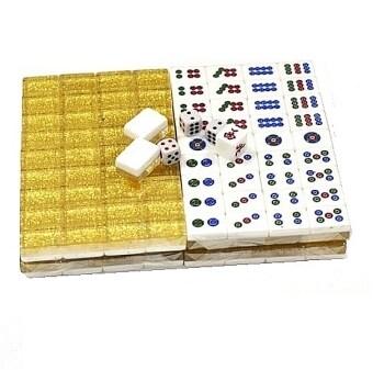 premium crystal golden mini mahjong set