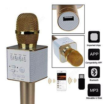 Q9 Mic Portable Wireless Bluetooth Speaker Microphone Mic with Handheld Karaoke KTV Singing Function