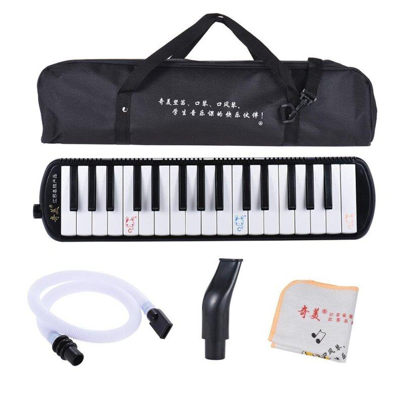 QIMEI QM32A-7 32 Piano Style Keys Melodica Musical Education Instrument for Beginner Kids Children Gift with Carrying Bag Black Outdoorfree Malaysia