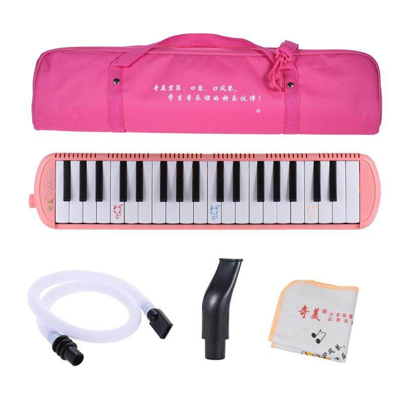 QIMEI QM37A-7 37 Piano Style Keys Melodica Musical Education Instrument for Beginner Kids Children Gift with Carrying Bag Pink Outdoorfree Malaysia