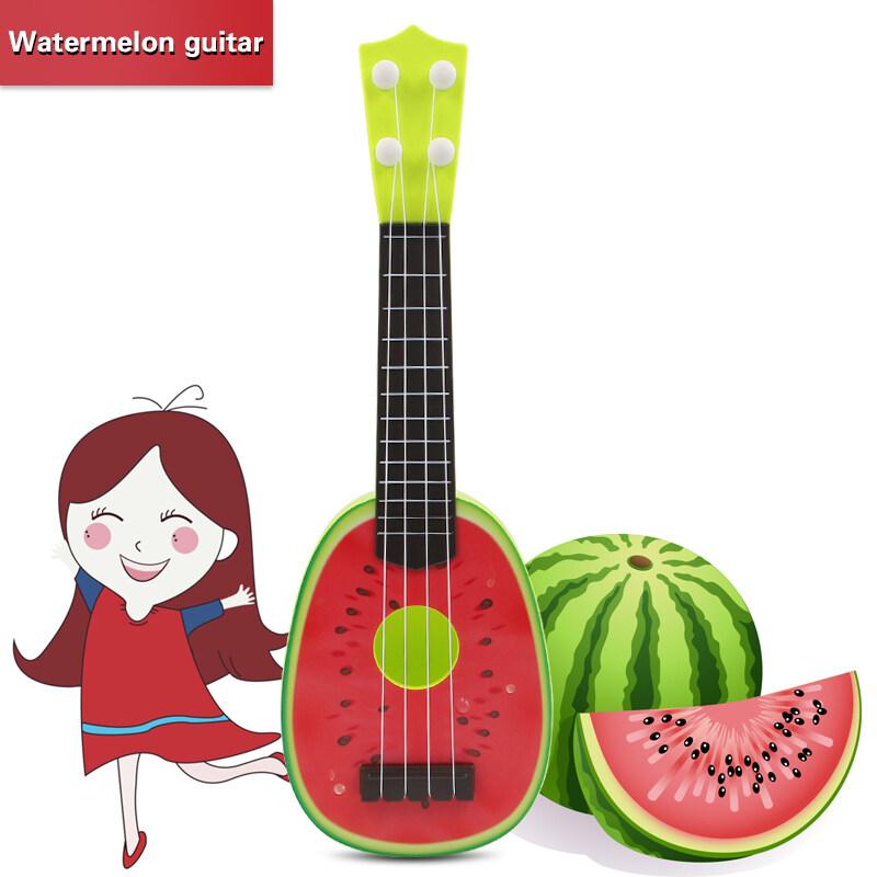 QNIGLO Fruit Mini Guitar Ukulele for Kids - Kids Educational Toy Red Malaysia