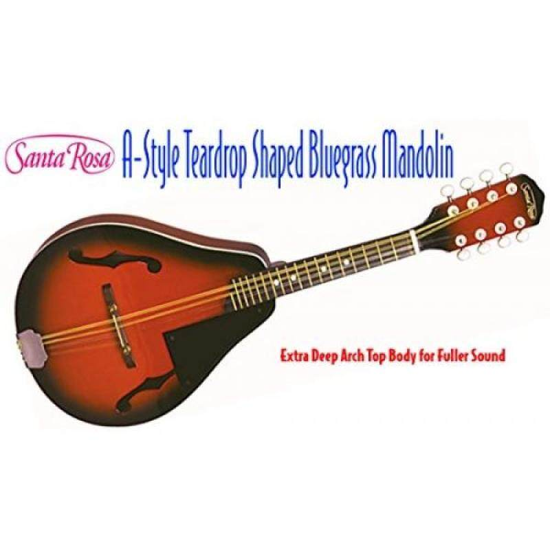 Santa Rosa MAND21 Mandolin Deep Arch Top Body Teardrop Shaped A Style, Red Sunburst Malaysia