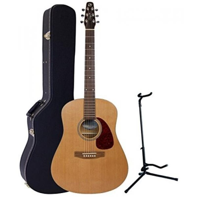 Seagull S6 The Original Acoustic Guitar w/Dreadnought Hardshell Case and Guitar Stand Malaysia