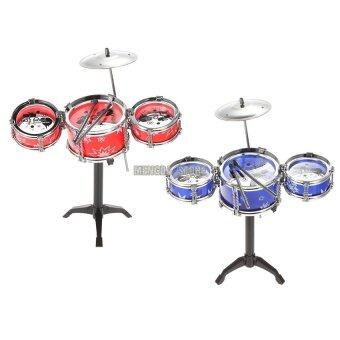 Set of Small Jazz Drum Playset Percussion Musical InstrumentIntelligence Educational Toy for Boy Girl Kids Baby Children Gift - 4