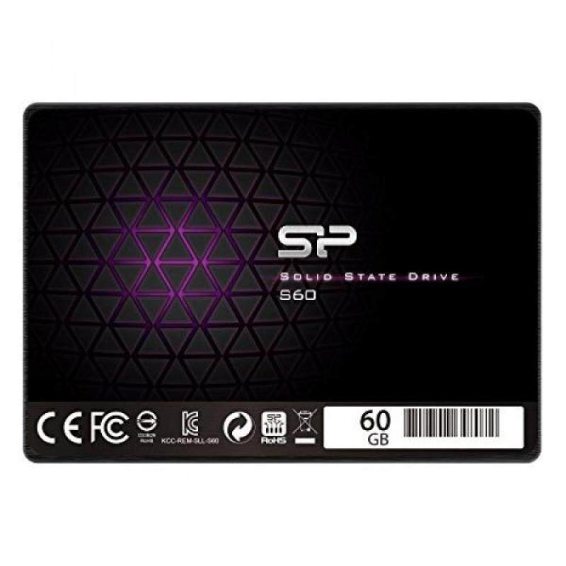 Silicon Power 60GB SSD S60 MLC High Endurance SATA III 2.5 7mm (0.28) Internal Solid State Drive- Free-download SSD Health Monitor Tool Included (SP060GBSS3S60S25AE) Malaysia