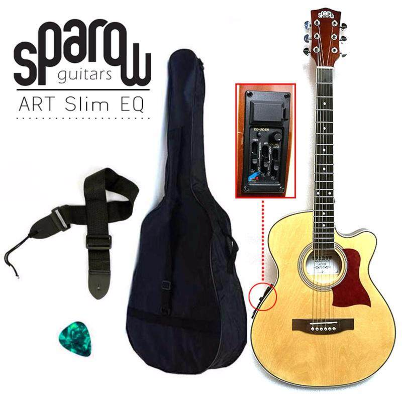 Sparow ART01 40 Slim with pickup EQ Acoustic-Electric Guitar (Natural) Malaysia