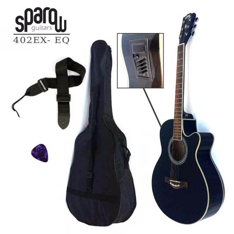 Sparow SP402Ceq Acoustic 40 Guitar Black (FOC Non-Padded Bag & 1xPick) Malaysia