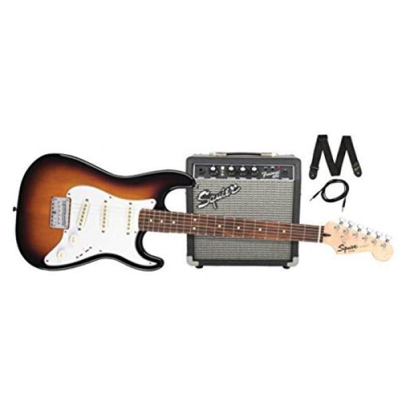 Squier by Fender Stratocaster Short Scale Beginner Electric Guitar Pack with Squier Frontman 10G Amplifier -Brown Sunburst Finish Malaysia