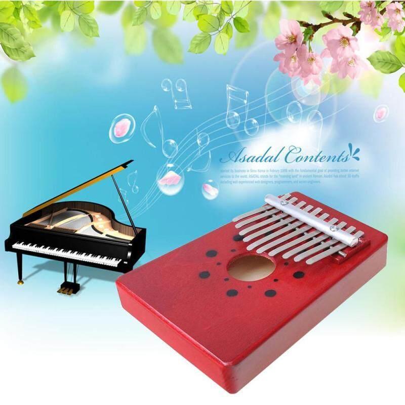 taiguo 10 Key Finger Piano Kalimba Mbira Likembe Sanza Thumb Piano (Red) Malaysia