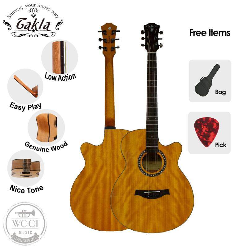 Takla M150C Acoustic Guitar 40 Package A (FREE Bag & Picks) (Full Okoume) (Grand Concert) Malaysia