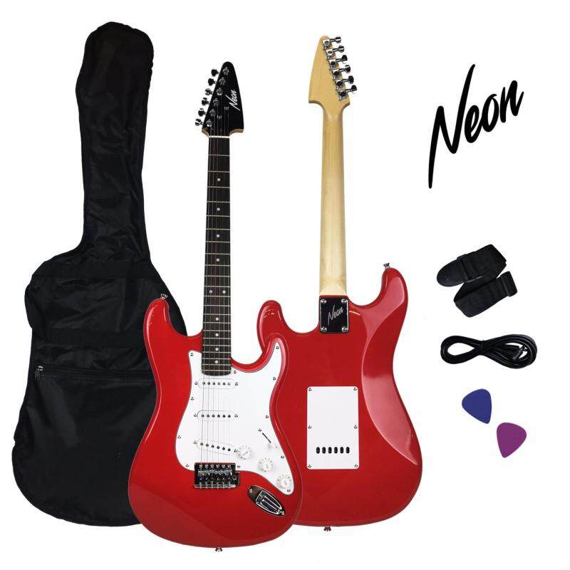 Taloha NEON Jumpstart Electric Guitar Package (Red) with full set accessories Malaysia