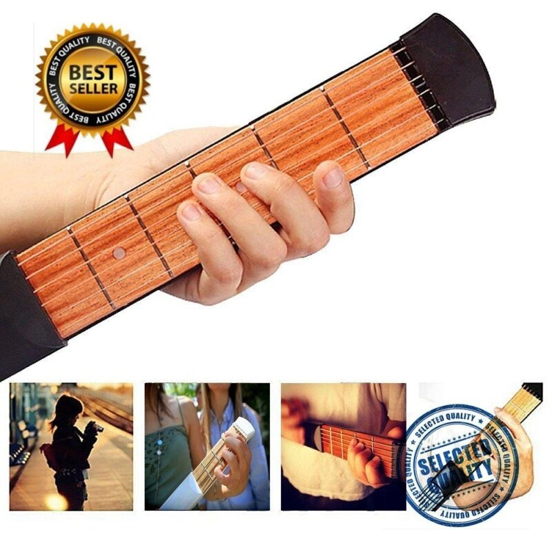 Upgraded Portable Pocket Acoustic Guitar Practice Tool Gadget Chord Trainer 6 String 6 Fret Model for Beginner Malaysia