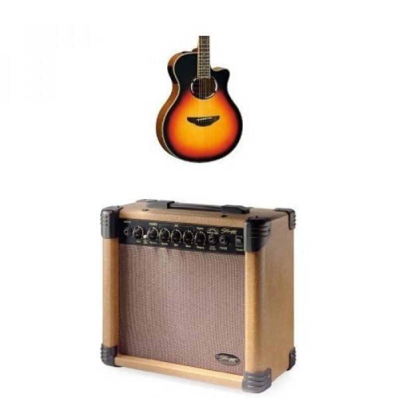 Yamaha APX500III VS with Stagg 15-Watt Acoustic Amp Malaysia