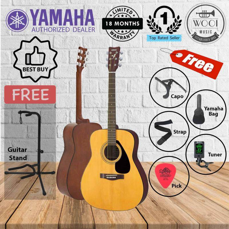 Yamaha F310 Acoustic Guitar (F-310) (FREE Neck Type Stand, Bag, Tuner, Capo, Strap & Pick) Malaysia