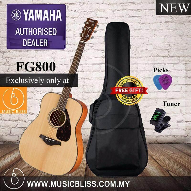 Yamaha FG800 Solid Spruce Top Natural Folk Acoustic Guitar (FG-800) Malaysia