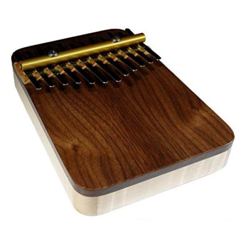 Zither Heaven Artisan Curly Maple 12 Note Thumb Piano with Black Walnut Top Malaysia